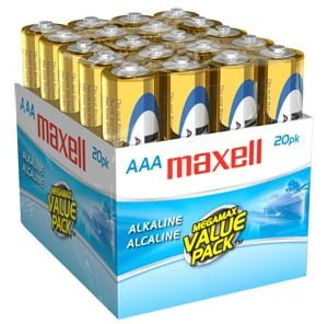 "Maxell ""AAA"" Batteries (20 Pack)"