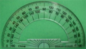 180 degree protractor- Open Center - Set of 12